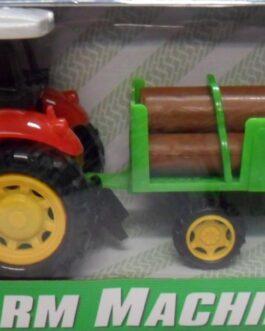 Tractor con remolque de troncos Farm Machine