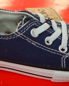 Zapatos de tela en azul