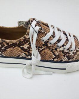 Zapatillas estampado de serpiente