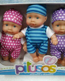 Conjunto 3 bebés Pitusos