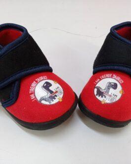 Zapatilla de niño con Velcro rojo y azul marino