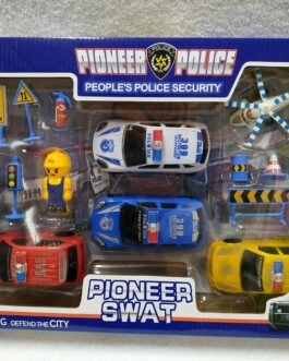 Caja con coches de policía