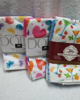 Paños de cocina 4 varios colores