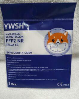 Mascarilla infantil ffp2 blanca