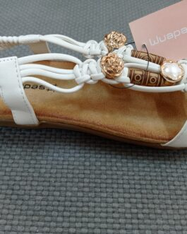 Sandalia blanca elástico