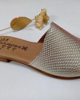 Sandalia piel color bronce