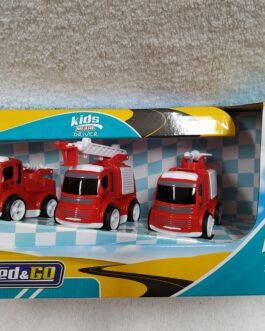 3 vehículos de metal