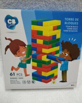 Juego torre de bloques 61 piezas