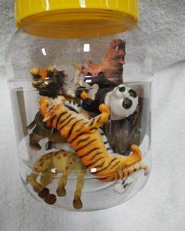 Bote 8 animales de la selva
